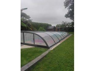 Montage abri biarritz c pour piscine 8.00x4.00