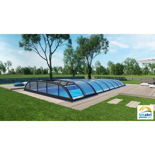 Abris de piscine bas de 4x8 m kitabripiscine for Prix piscine coque 4x8
