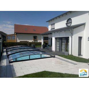 Abris de piscine bas de 4x8 m kitabripiscine for Prix piscine 4x8