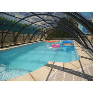 Abri de piscine semi-haut