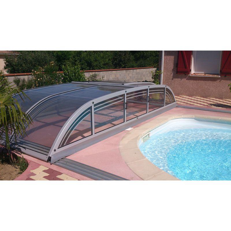 Biarritz b mix anthracite destockage abris de piscine for Abri de piscine en kit