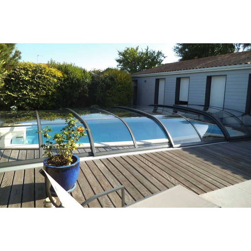 Abri de piscine bas biarritz b kitabripiscine for Abris piscine uv