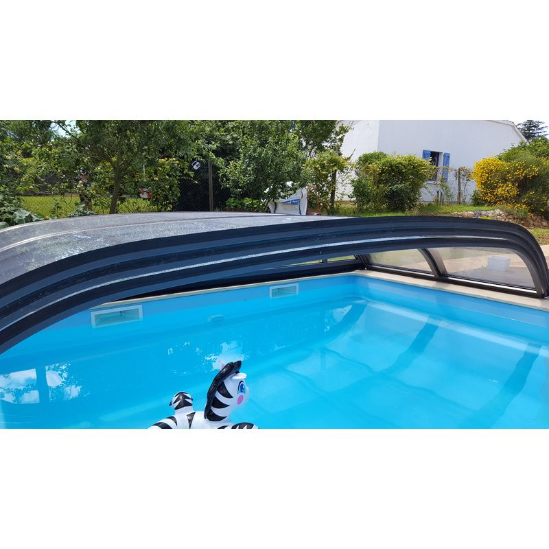 Abri de piscine bas biarritz b kitabripiscine for Kit abri de piscine