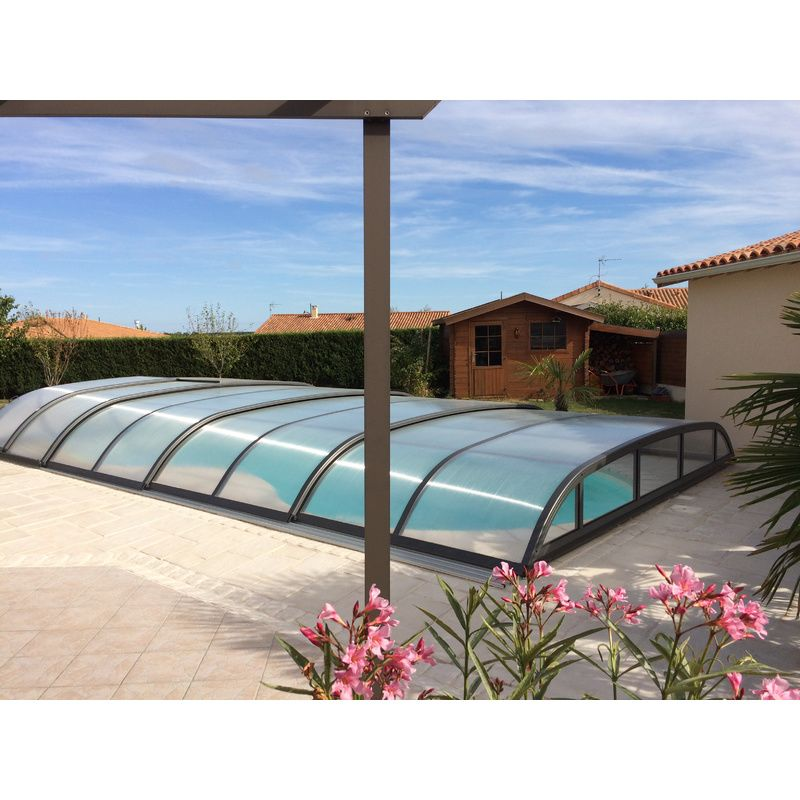 Biarritz b mix anthracite destockage abris de piscine for Piscine destockage