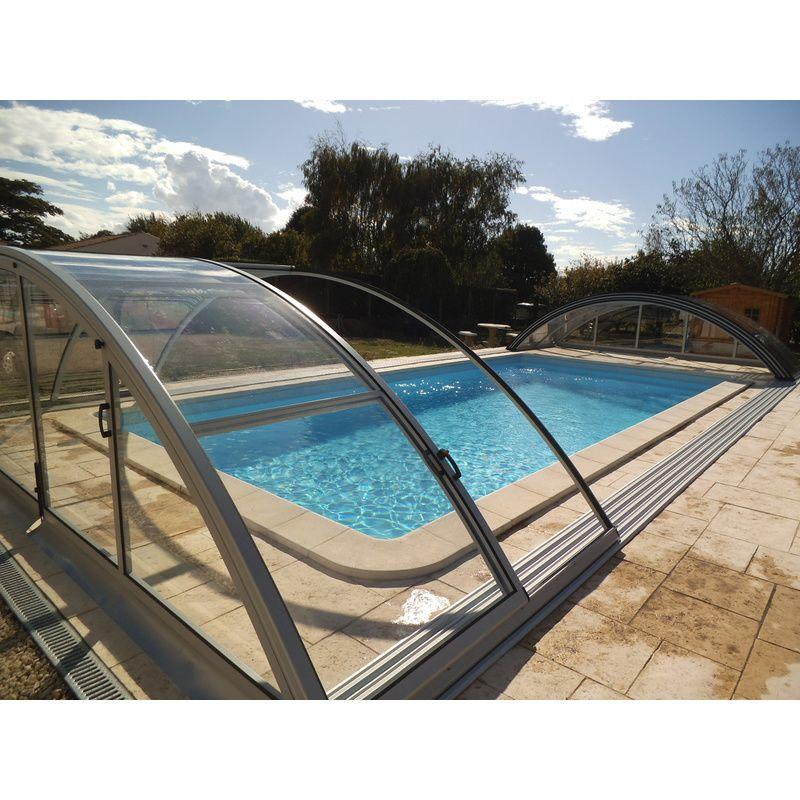 klasik c abris de piscine hauts de 4 5x10m