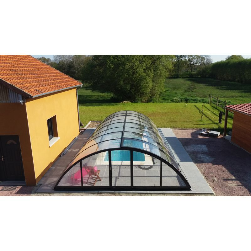 Abri de piscine semi haut pyla b kitabripiscine for Abris piscine uv
