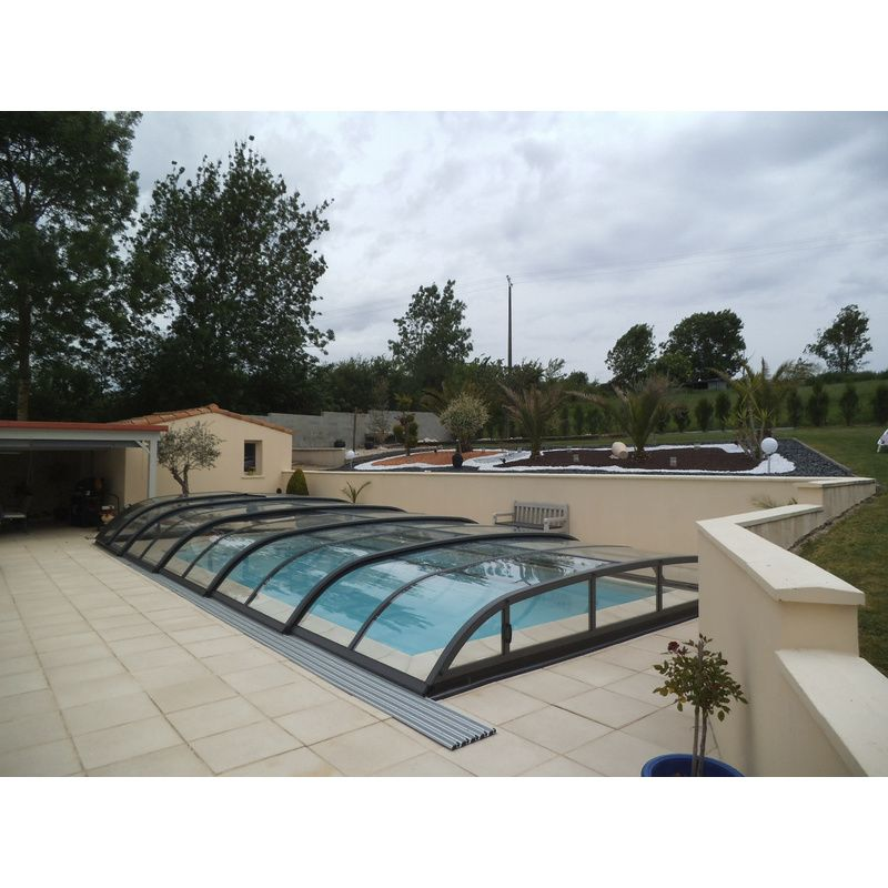 Biarritz c mix anthracite destockage abris de piscine for Piscine destockage