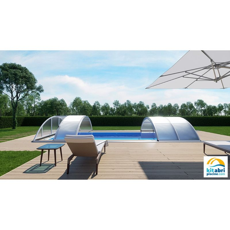 klasik b pour une piscine de 3 5 x 7 m kitabripiscine sp cialiste des abris de piscine et. Black Bedroom Furniture Sets. Home Design Ideas