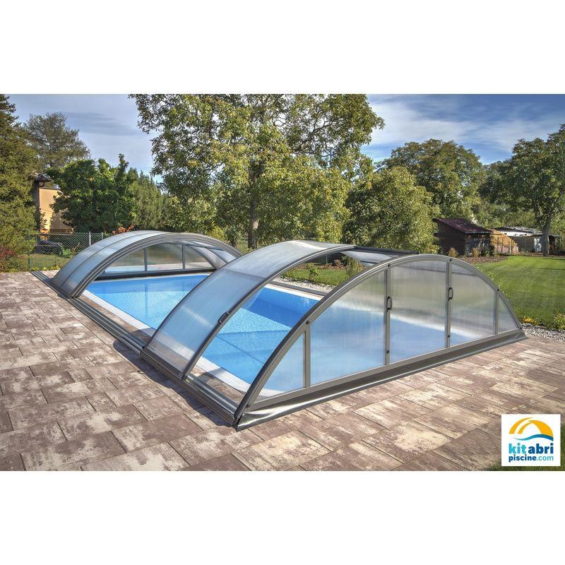 Klasik b pour une piscine de 3 5 x 7 m kitabripiscine for Abri piscine klasik c