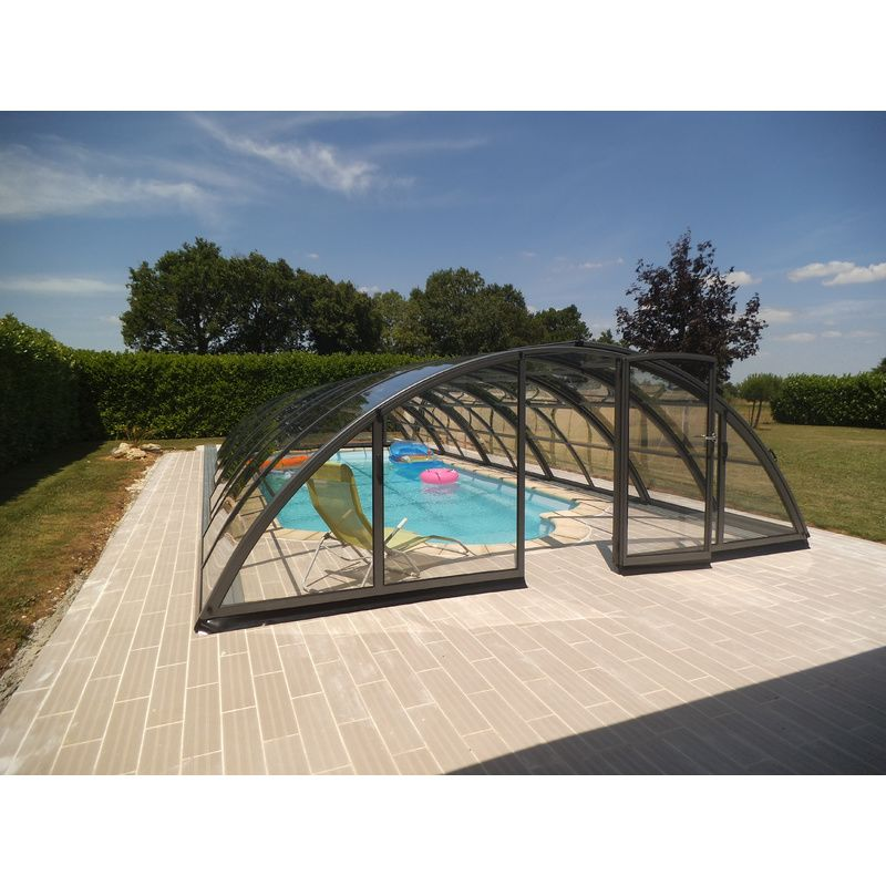 Abri de piscine semi haut pyla c kitabripiscine for Dome piscine