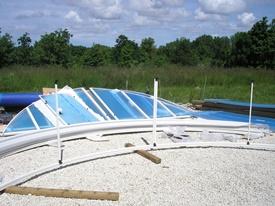 Montage d'un abri de piscine en kit