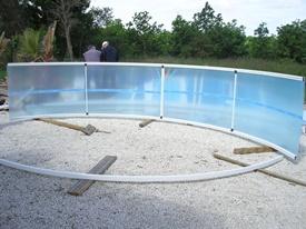 Montage abri de piscine en kit